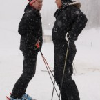 Hanging out with Russian President Dmitry Medvedev on a skiing trip in the south of the country last January. (AP Photo/RIA-Novosti, Alexei Druzhinin, Pool)<span class=