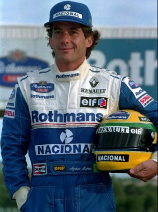 Senna photographed ahead of the 1994 season.