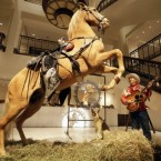 Celebrity cowboy Roy Rogers was so fond of his horse and showbiz partner Trigger that when the horse died he had him stuffed. Some 40-odd years later, the horse was sold at Christie's for $266,000. Oh, and they also sold the stuffed dog. Bullet fetched $35,000 at the same auction.