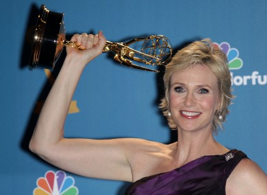 Jane Lynch was best supporting actress in a comedy role as Sue Sylvester in 'Glee'.