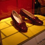 The sparkling red shoes worn by Judy Garland in the 1939 classic, The Wizard of Oz, were sold to a private collector in 2000 for $666,000. TheJournal.ie hopes the buyer realised they weren't real rubies. <span class=