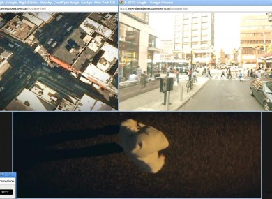 An image of how the 'We Used To Wait' video appears when the user selects 'Broadway' as their home town.
