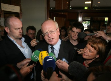 Michael McDowell leaves the RDS count centre in Dublin after conceding his seat in the 2007 General election.