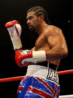 David Haye during the WBA World Heavyweight Title bout at the MEN Arena, Manchester