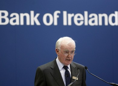 BoI chairman Pat Molloy: the bank will now transfer fewer loans to NAMA than previously agreed.