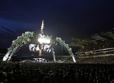 U2's three sold-out concerts in Croke Park saw the band play to 243,198 people over the three nights.