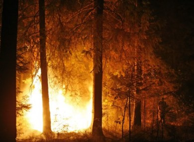Photo of the fires outside Moscow on 13 August, 2010.