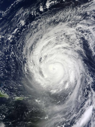 Hurricane Igor captured by the MODIS instrument on board the Terra satellite