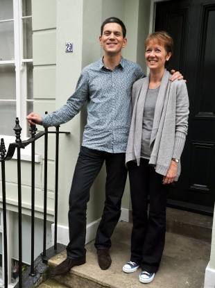 David Miliband, speaking on the steps of his North London home with wife Louise, said he would not be putting his name forward to appear in the shadow cabinet.