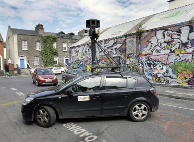 The new Google cars are often mistaken for the Street View cars (pictured above) - but have cameras mounted directly on the car itself, and are also fitted with more sensors and radars.