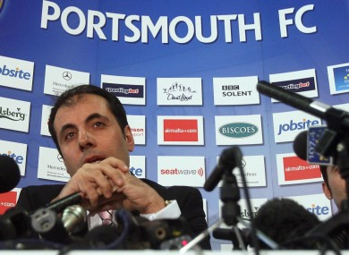 Andrew Andronikou believes there is still hope for Portsmouth, but if its takeover bid fails it will likely have to liquidate its assets.