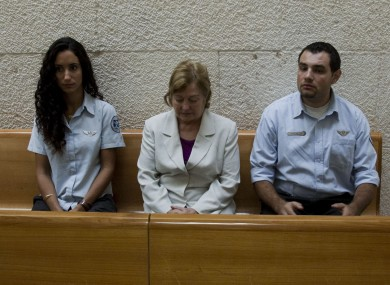 Mairead Corrigan Maguire (centre) sits in the Israeli supreme court where she this morning appealed a 10-year deportation order she claimed she didn't know existed.