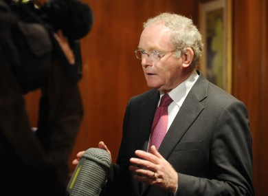 McGuinness answers questions at this morning's Tory Fringe meeting.