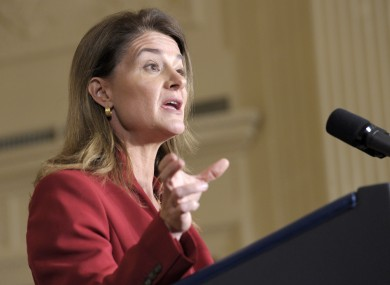 Melinda Gates: probably not too pushed about the new line of MacBook Airs.