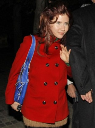 Anna Chapman, one of the deported spies, photographed in Russia on 7 October.