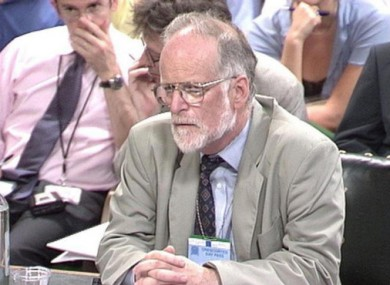 File photo dated 23 January, 2004, of weapons inspector David Kelly being questioned by the Commons Select Committee.