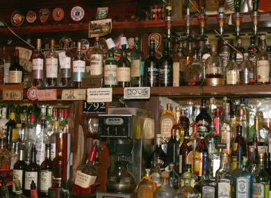 The volume of sales in bars in Ireland fell by over 10% in the last twelve months.