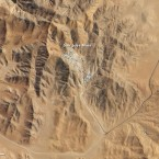 This satellite image from NASA shows the Atacama desert where the San Jose Mine, site of the rescue mission, is ongoing.