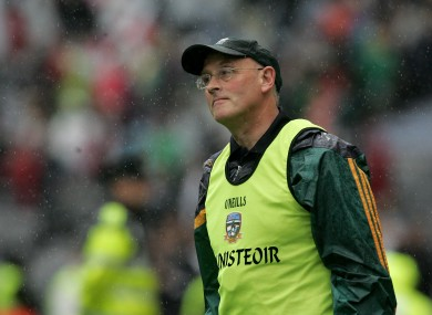 Eamonn O'Brien during Meath's All Ireland Senior Football Championship Quarter-Final against Kildare.