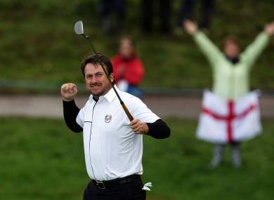 Graeme McDowell is playing in today's final singles match - and European hopes could depend on him.