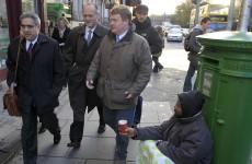 IMF head passes three homeless on way to bailout talks