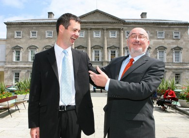 Sinn Féin senator Pearse Doherty, with the party's Dáil leader Caoimhghín Ó Caoláin. The High Court today ruled that the delay in holding the Donegal South-West by-election (in which Doherty will run) as