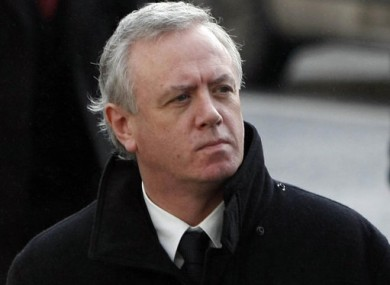 Eamonn Lillis photographed at the Central Criminal Court in Dublin on 4 February, 2010, for sentencing after his manslaughter conviction.
