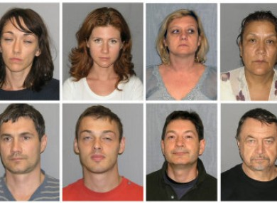 A combination image of some of the 10 people expelled from the US as Russian agents.