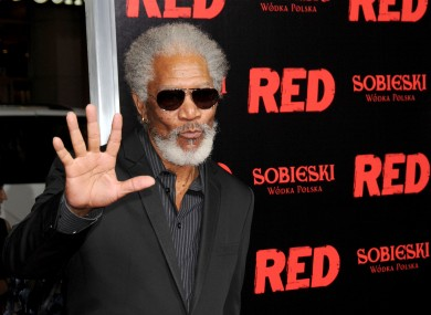 Morgan Freeman: star of Red, but probably more likely to vote Democratic blue.