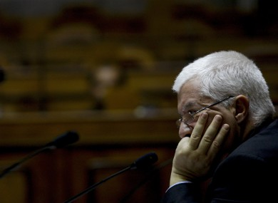 Fernando Teixeira Dos Santos: the Portuguese finance minister has said pressure in the Eurozone has forced his country to the brink of seeking a bailout.
