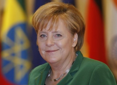 Germany's Chancellor Angela Merkel arrives for the opening plenary session of the G20 Summit this morning.