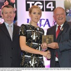 Cork's Nollaig Cleary accepts her award.