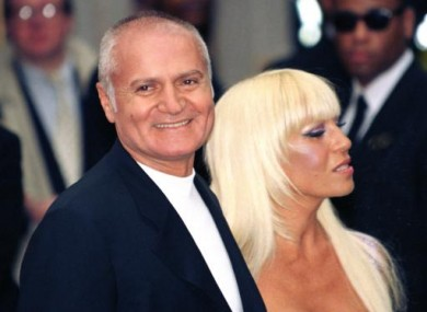 Gianni Versace photographed with his sister Donatella in 1995.