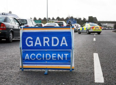 File photo of garda traffic sign.