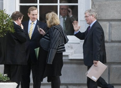 Enda Kenny (left) and Eamon Gilmore will have some work to do reconciling their economic policies if they are to form a coalition.