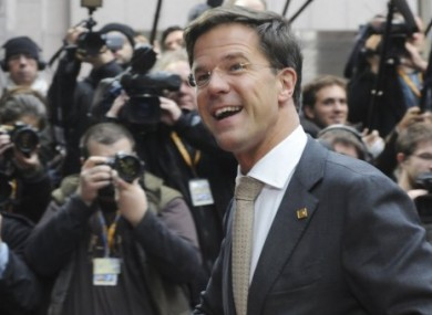 Dutch prime minister Mark Rutte's government has approved the country's contribution to Ireland's bailout.