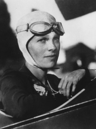 Undated photo of pilot Amelia Earhart, who disappeared in 1937.