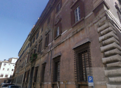 The Irish Embassy in Rome: Police were called after a suspicious package was received.