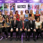 The team of the decade 2001-2010, back from left: Valerie Mulcahy, Cork; Briege Corkery, Cork; Nollaig Cleary, Cork; Rena Buckley, Cork; Angela Walsh, Cork; Caroline Brogan, Chairperson of the Mayo County Board on behalf of Cora Staunton, Mayo; Cliodhna O'Connor, Dublin; Juliet Murphy, Cork; Jenny Greenan, Monaghan; Geraldine O'Shea, Kerry and Rebecca Hallahan, Waterford. Front, from left: Mary O'Donnell, Waterford; Tracey Lawlor, Laois; Peter Quinn, former President of the GAA; Pat Quill, President, Cumann Peil Gael na mBan; Pól Ó Gallchoir, Ceannasai, TG4; Emer Flaherty, Galway and Christina Heffernan, Mayo. <span class=