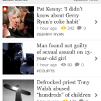 Firing up the App from your iPhone delivers you straight to our homepage showing you the latest stories on our site.