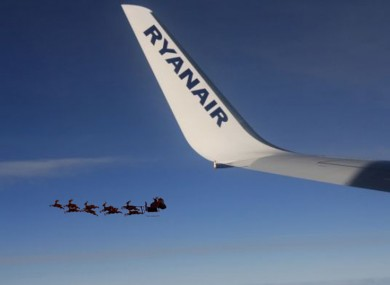 The 'UFO' snapped south of Oslo - Ryanair may or may not have received a Photoshop set as an early Christmas pressie