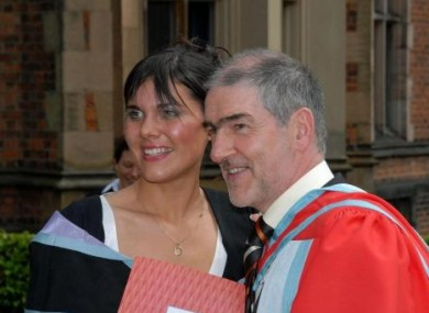 The late Michaela Harte, pictured with her father Mickey, in July 2006.