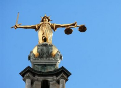 File photo of the figure of justice.