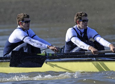 Tyler (left) and Cameron Winklevoss, who have represented the US in the Olympics and Oxford in the Boat Race, are to ask a court to undo their previous $65m settlement over claims they came up with the concept of Facebook.