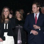 Britain's Prince William and his fiancée Kate Middleton arrive to view the Thursford Christmas Spectacular gala on 18 December, 2010, for their first official public outing. (AP Photo/Matt Dunham)