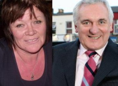 Cllr Joan Collins, left, was incensed by Bertie Ahern's
