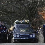 Michaela McAreavey's funeral cortege makes its way to St Malachy's church for her funeral this morning.<span class=