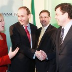 Micheal Martin thanked his rivals for the Fianna Fail leadership - Mary Hanafin, Eamon O Cuiv and Brian Lenihan - for their