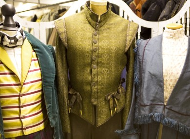 Costumes worn by David Tennant Penelope Wilton and James Fleet.