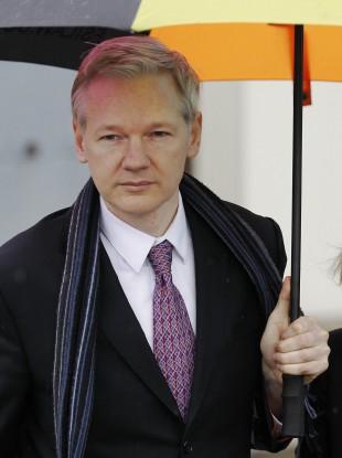 Julian Assange at court earlier this month
